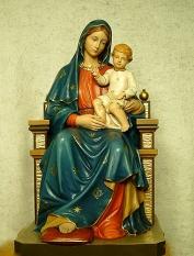 Madonna con bambino seduto