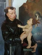 Jesús en los brazos de San Antonio